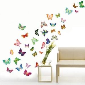 Stenska nalepka z metulji